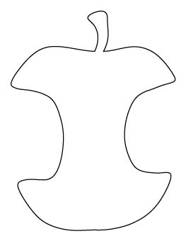 apple core coloring page free food patterns for crafts stencils and more