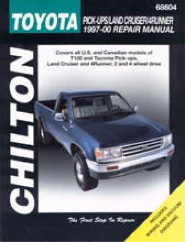 chilton car manuals free download 1999 toyota land cruiser electronic valve timing chilton toyota pick ups land cruiser 4runner 1997 2000 repair manual