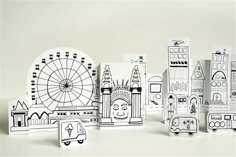 How To Make A 3d Paper City - 17 best photos of 3d paper city template 3d paper city