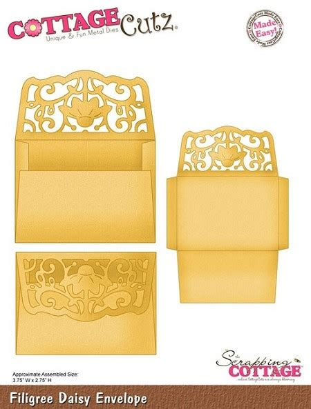 Cottage Cutz Dies Filigree Daisy Envelope Cottage Cutz Dies