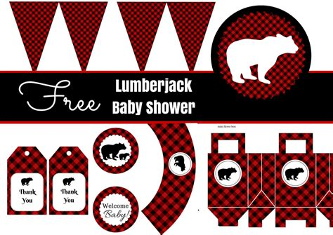 Free Printable Baby Shower Ideas by Free Lumberjack Baby Shower Printable Baby Shower