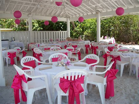 Pink wedding under the pavilion at the Sandbar   Beach