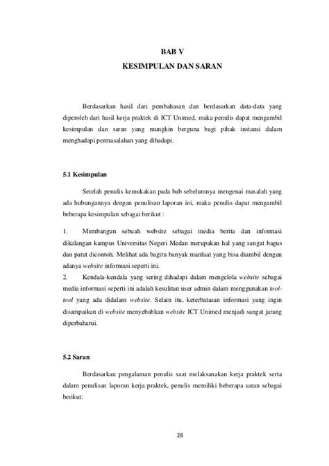 contoh laporan video contoh laporan kerja praktek ti