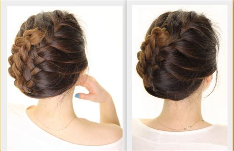 hair styles for after five 5 minute french braid updo easy summer hairstyles youtube