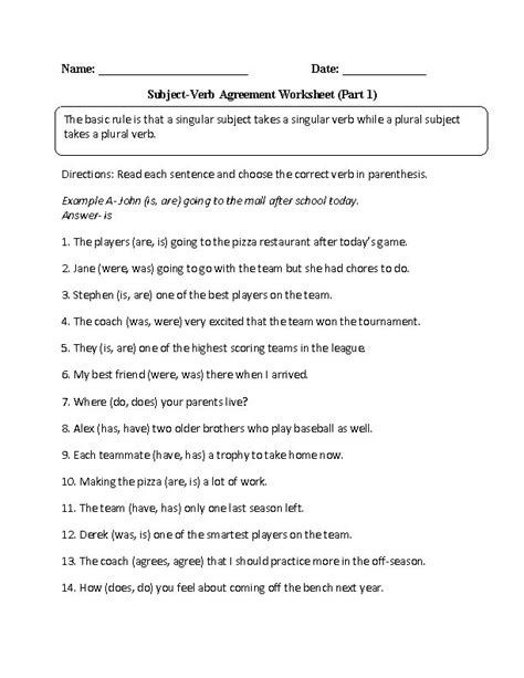 Subject Verb Agreement Worksheets 9th Grade best 25 subject verb agreement ideas on
