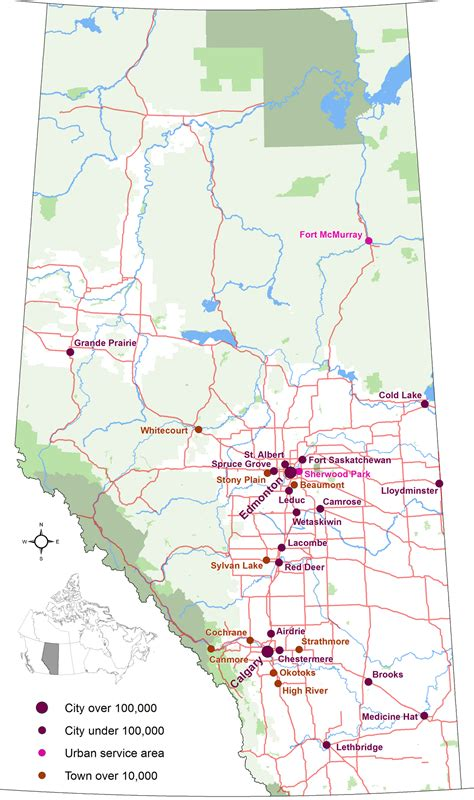 printable road maps of alberta list of cities in alberta wikipedia