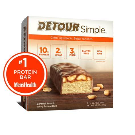 protein bars caramel peanut detour whey protein bars