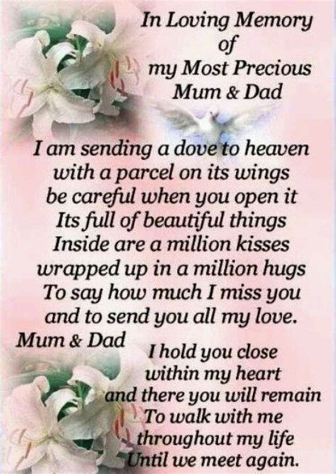 loving memory mother poems english  anniversary quotes  parents mom  heaven