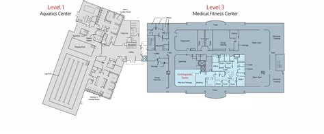 wellness center floor plan medical fitness wellness center nexcore group