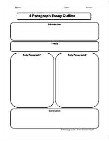 Essay Organizer Template by 4 Paragraph Essay Graphic Organizer Freeology
