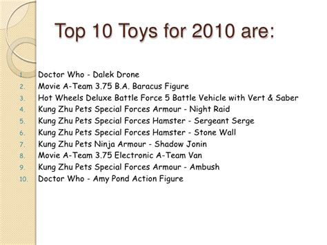 top selling 2010 top selling toys 2010