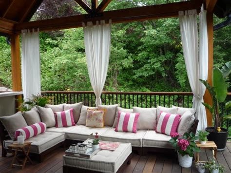 outdoor deck curtains drapes and curtains outdoor curtains great solution for
