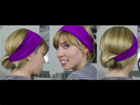 quick and easy hairstyles for pe headband bun quick easy hairstyles for long hair and