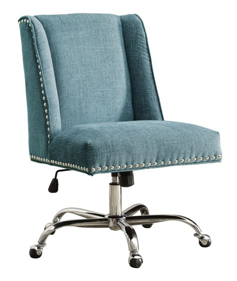 draper height adjustable chrome and plush fabric office