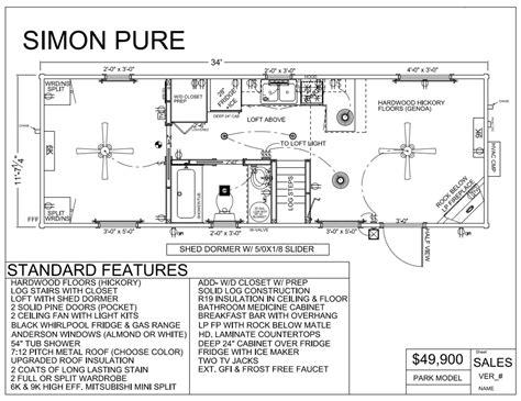 park model mobile home floor plans park model log cabins rv park log homes tiny homes