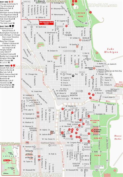 printable route planner usa 100 chicago map attractions maps of illinois historical