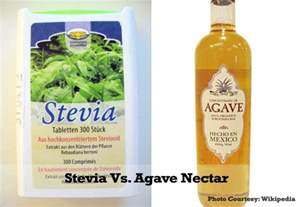 is agave nectar better than sugar stevia vs agave nectar waist healthy