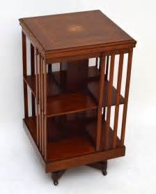 antique revolving bookcase antique inlaid mahogany revolving bookcase antiques atlas