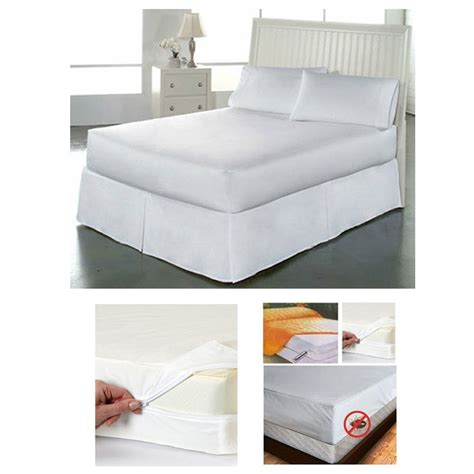 size zippered mattress cover vinyl protector allergy