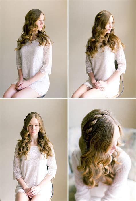 Fairytale Hairstyles by Soft Fairytale Hair Tutorial Green Wedding Shoes