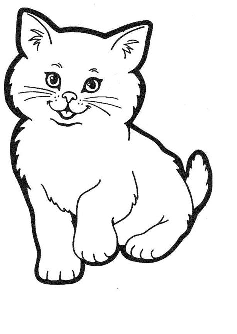 kitty cat coloring pages free printable pictures