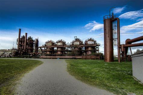 washington gas and light company seattle gas light company gasification towers photograph