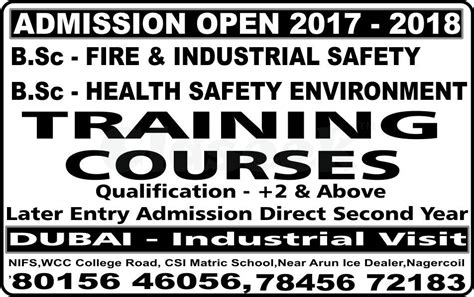 Mba In Safety Management In India by Annamalai Nifs Engineering Safety