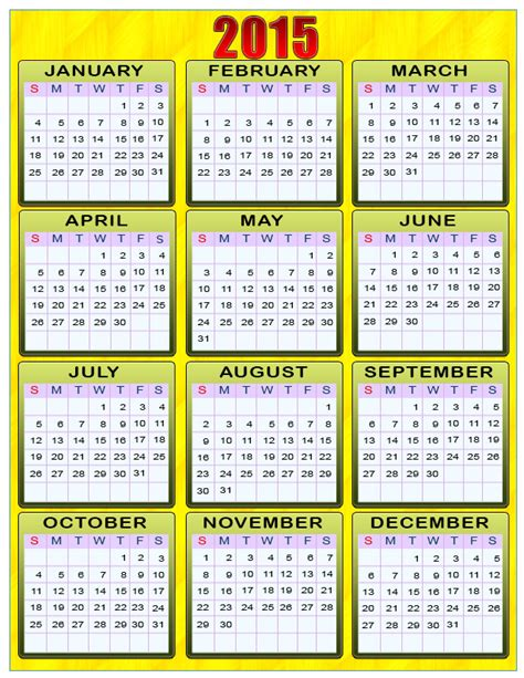2015 calendar template with holidays printable year 2015 calendar new calendar template site