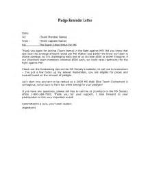 pledge letter template letter template 2017