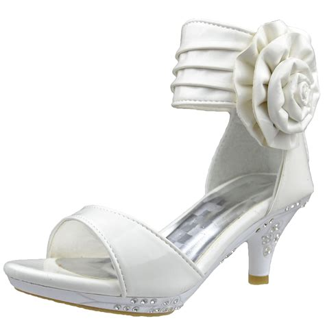 high heel pageant shoes dress sandals patent flower rosette pageant high