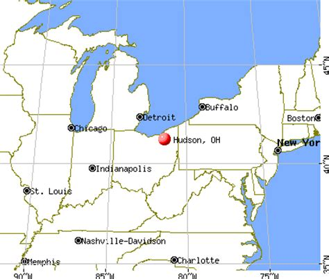 show me a map of ohio hudson ohio oh 44236 profile population maps real
