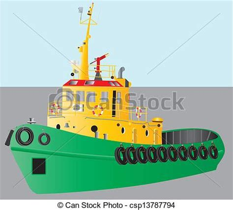 yellow tugboat eps vectors of tug boat a detailed illustration of a