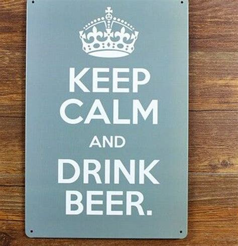 aliexpress sign in free shipping metal wall art keep calm and drink beer