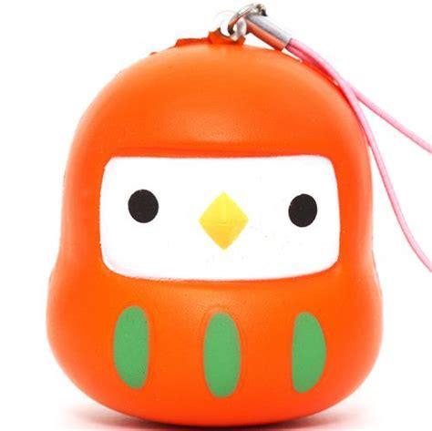 Squishy Owl Slowres orange bird squishy cellphone charm food squishies squishies shop modes4u