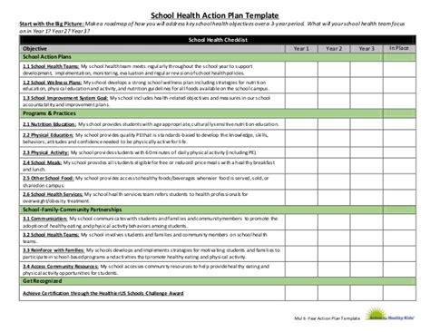 Game On Action Plan Final 2014 1 Health And Wellness Plan Template