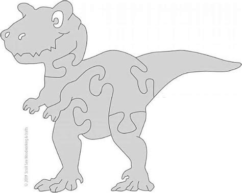 printable dinosaur jigsaw puzzles free wooden puzzle patterns scrollsaw diy puzzles