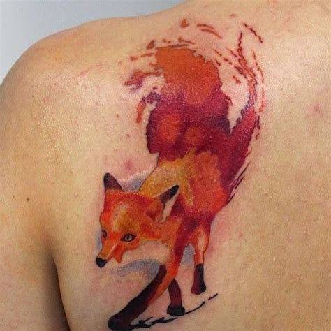 watercolor tattoo fox 30 watercolor fox tattoos
