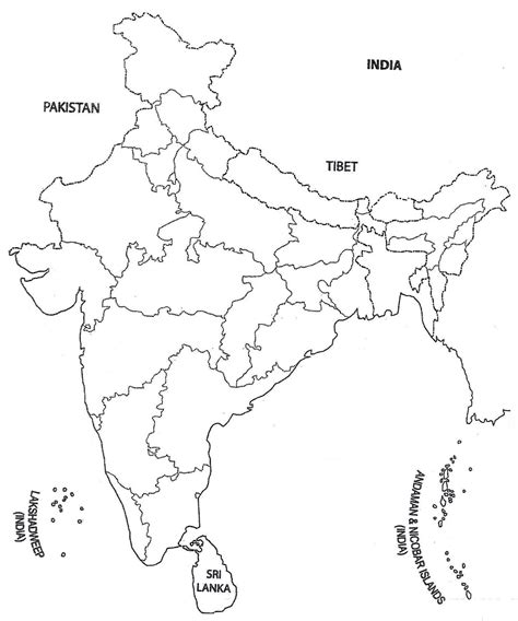 India Maps Outlines Blank by Blank Political Map Of India Outlines Free Printable Graphics