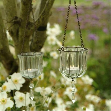 Hanging Tealight Holders by Hanging Teardrop Votives Glass Tealight Holders