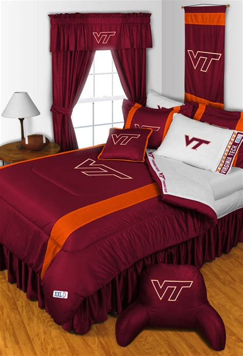 Virginia Tech Hokies Queen Bedding Set Ncaa College Bed Sets For College