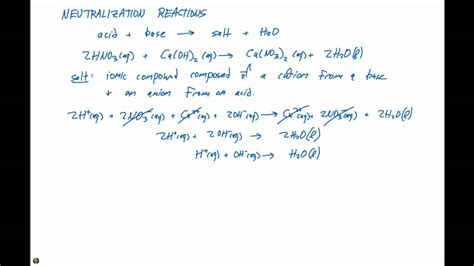 Gas Forming Reactions Worksheet 4 3 neutralization reactions and gaseous products