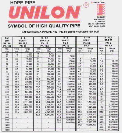 Pipa Unilon Products Pipa Pe Indonesia