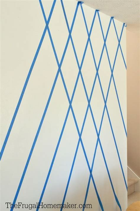 how to paint a diamond pattern on your wall maison d or how to paint a diamond accent wall using scotchblue