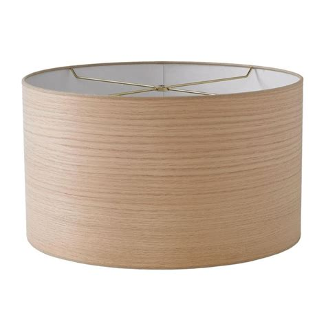 wood veneer l shade 16 quot wood veneer shallow drum l shade