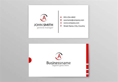 free name card template vector business card template free vector 27076 free