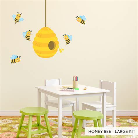 honey bees printed wall decal