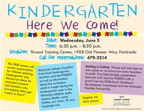 kindergarten flyer template kindergarten wkshp flyer