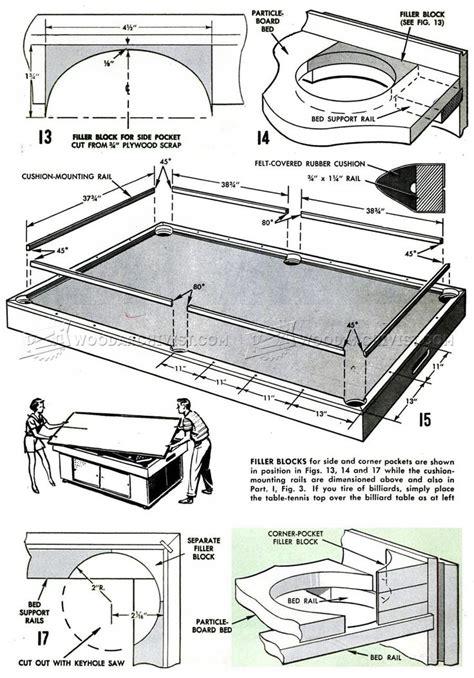 diy pool table woodworking plans game room diy