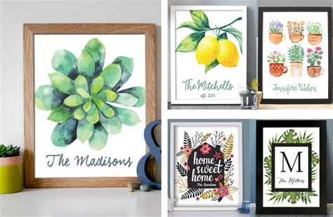 home decor deals online groopdealz personalized botanical home decor prints