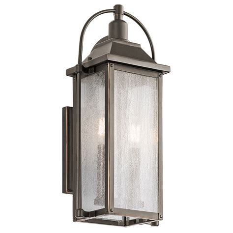 kichler 49714oz harbor row olde bronze outdoor small wall